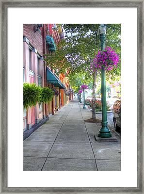 Marietta Sidewalk Framed Print