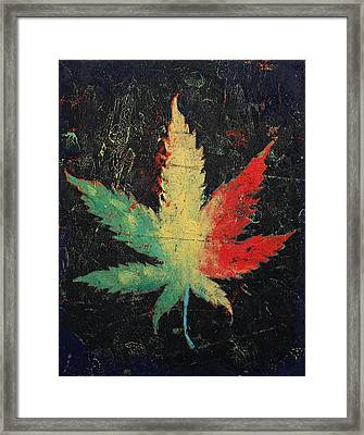 Marijuana Framed Print by Michael Creese