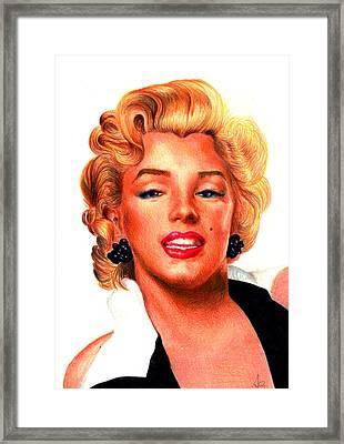 Marilyn Framed Print by Alessandro Della Pietra