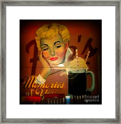 Marilyn And Fitz's Framed Print by Kelly Awad