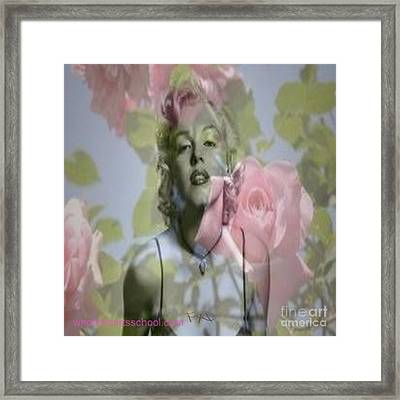 Marilyn And The Big Screen Framed Print