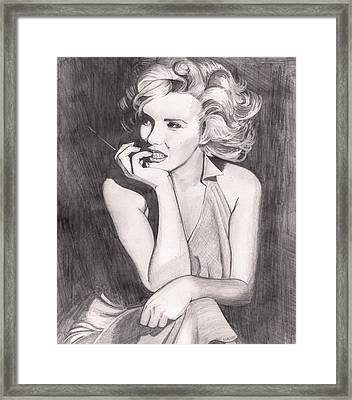 Marilyn Framed Print by Beverly Marshall