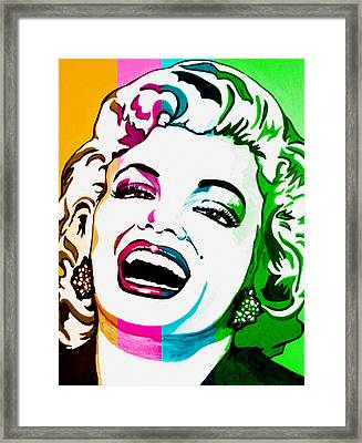 Marilyn Color Blocked Framed Print