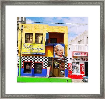 Marilyn Framed Print by David Flitman