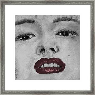 Marilyn Framed Print by David Patterson