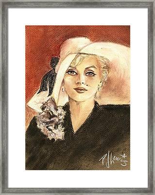 Marilyn Fashion Framed Print by P J Lewis