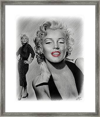 Marilyn Hot Lips Version Framed Print