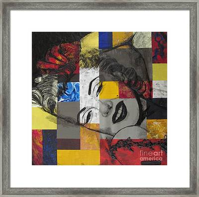 Marilyn In Abstract Framed Print