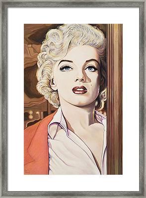 Marilyn In Bus Stop Framed Print by Richard Greenberg