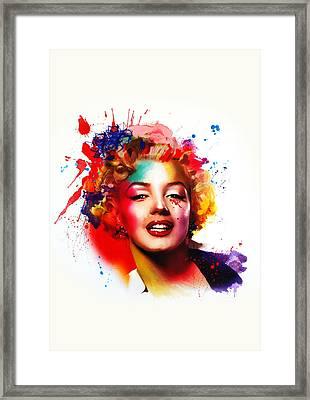 Marilyn Framed Print by Isabel Salvador
