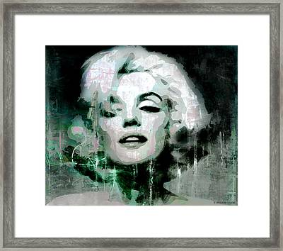 Marilyn Framed Print by Kim Gauge