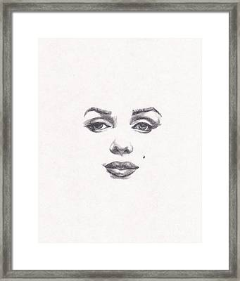 Marilyn Framed Print by Lee Ann Shepard