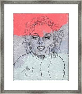 Marilyn Loved Color Framed Print by P J Lewis