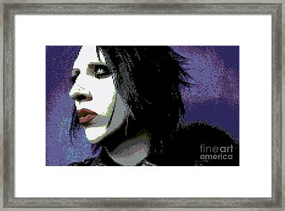 Marilyn Manson Framed Print