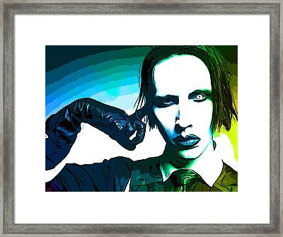 Marilyn Manson Poster Framed Print by Dan Sproul