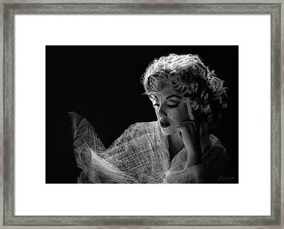 Marilyn Framed Print by Marina Likholat