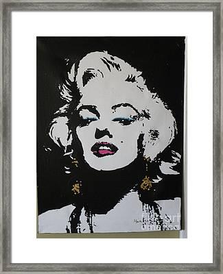 Marilyn Framed Print by Moira Ferguson