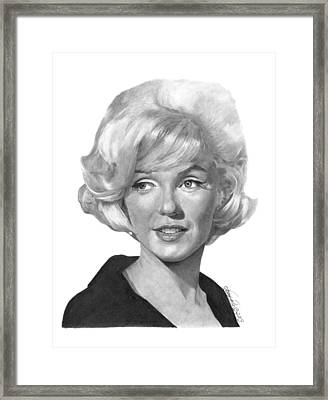 Marilyn Monroe - 015 Framed Print by Abbey Noelle
