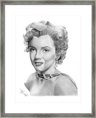 Marilyn Monroe - 016 Framed Print by Abbey Noelle