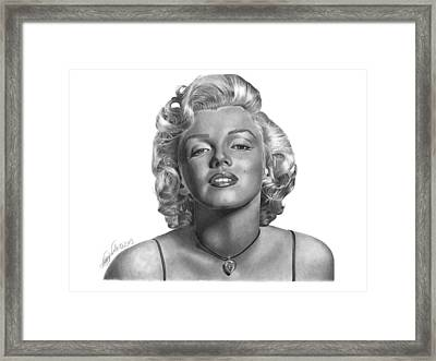 Marilyn Monroe - 018 Framed Print by Abbey Noelle