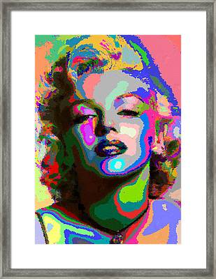 Marilyn Monroe - Abstract 1 Framed Print