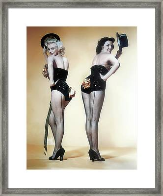 Marilyn Monroe And Jane Russell Framed Print by Daniel Hagerman