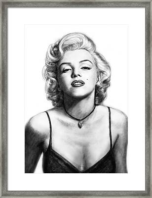Marilyn Monroe Art Drawing Sketch Portrait Framed Print