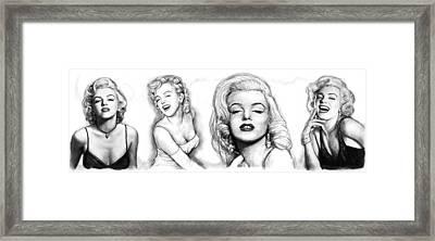 Marilyn Monroe Art Long Drawing Sketch Poster Framed Print by Kim Wang