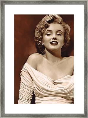 Marilyn Monroe Artwork 2 Framed Print by Sheraz A