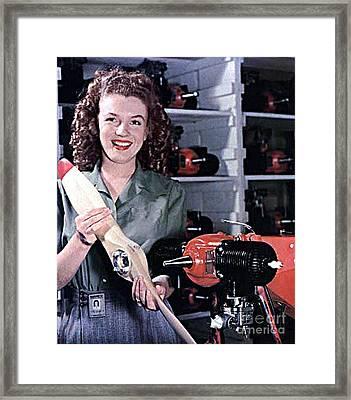 Marilyn Monroe At 16 Framed Print