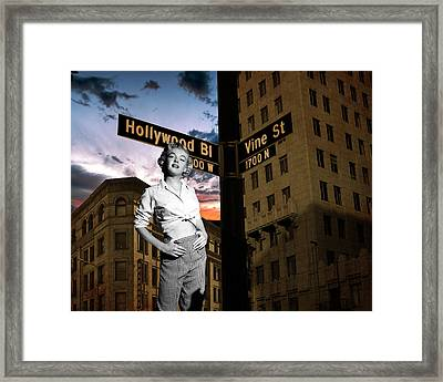 Marilyn Monroe At Hollywood Blvd Framed Print by Retro Images Archive