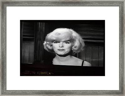 Marilyn Monroe At The Drive In Theater Framed Print by Linda Phelps