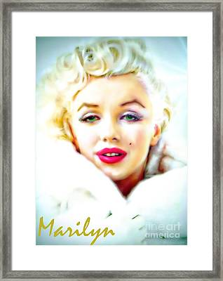 Marilyn Monroe Framed Print by Barbara Chichester