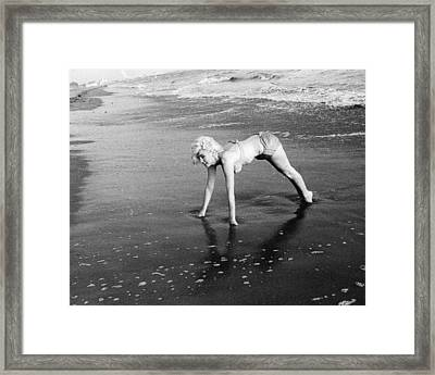 Marilyn Monroe Beachside Framed Print by Retro Images Archive