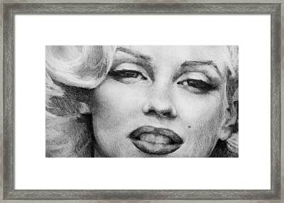 Framed Print featuring the painting Marilyn Monroe - Close Up by Jani Freimann