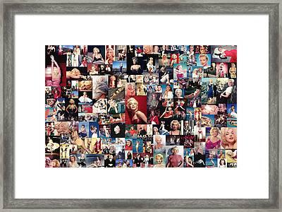 Marilyn Monroe Collage Framed Print by Taylan Apukovska