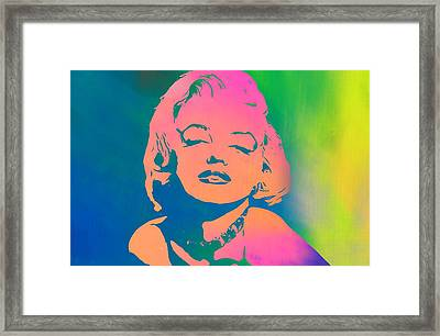 Marilyn Monroe Color Framed Print by Dan Sproul