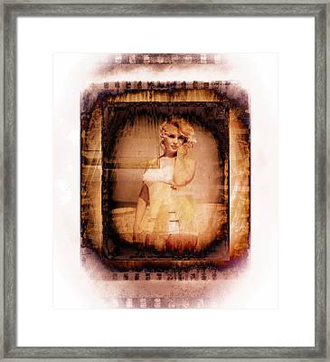Marilyn Monroe Film Framed Print by EricaMaxine  Price