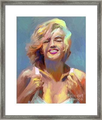 Marilyn Monroe Framed Print by GCannon
