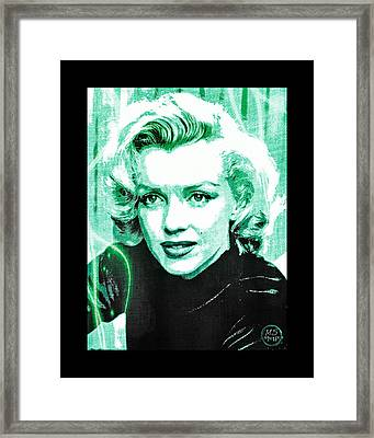 Marilyn Monroe - Green Framed Print by Absinthe Art By Michelle LeAnn Scott
