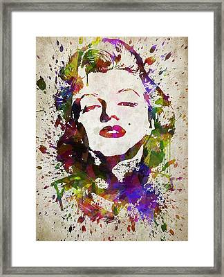 Marilyn Monroe In Color Framed Print by Aged Pixel