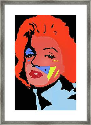 Marilyn Monroe In Color Framed Print