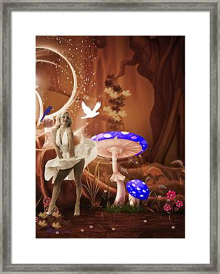 Marilyn Monroe In Fantasy Land Framed Print by EricaMaxine  Price