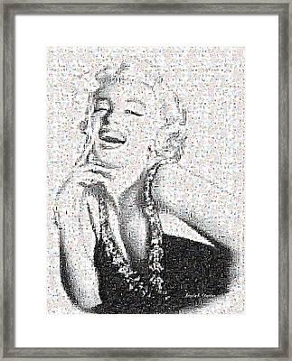Marilyn Monroe In Mosaic Framed Print by Angela A Stanton