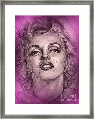 Marilyn Monroe In Pink Framed Print by J McCombie