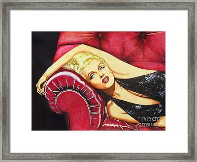 Framed Print featuring the drawing Marilyn Monroe by Joseph Sonday
