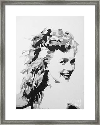Marilyn Monroe Framed Print by Katharina Filus