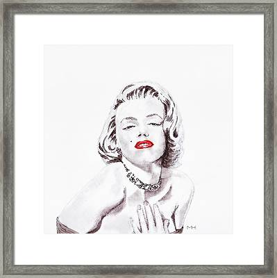 Marilyn Monroe Framed Print by Martin Howard