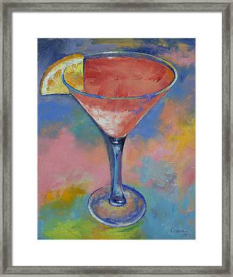 Marilyn Monroe Martini Framed Print