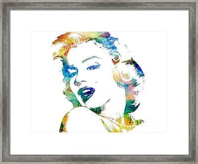 Marilyn Monroe Framed Print by Mike Maher